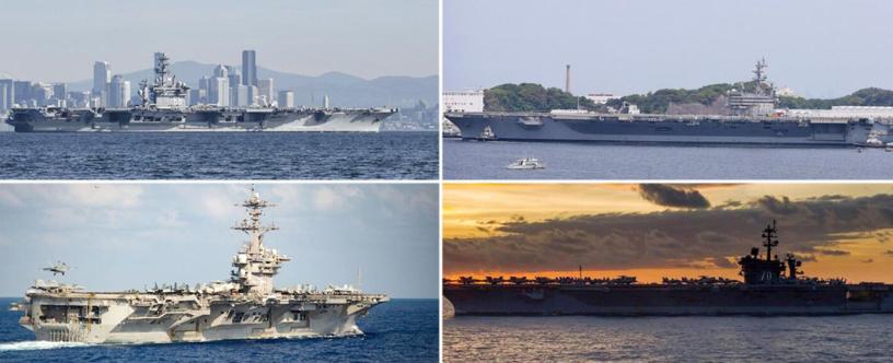 尼米兹号航母出现确诊,美军太平洋海域已无可用航母
