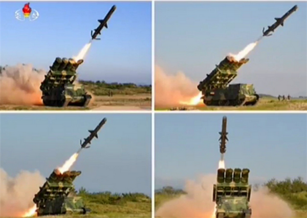 朝鲜发射数枚飞行物,初步推断为短程巡航导弹