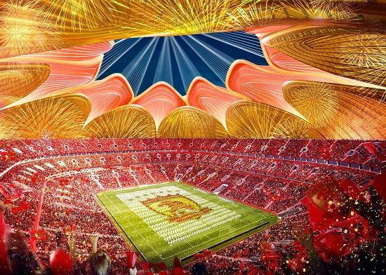 恒大新足球场亮相 总占地面积15万平方米可容纳10万人