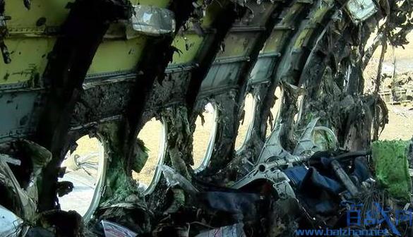 俄起火客机内部画面