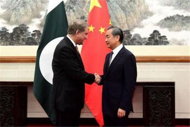 中国外交部长王毅同巴基斯坦外长会谈 库雷希希望中方就克什米尔主持公道