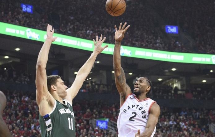 猛龙战胜雄鹿,莱昂纳德36分,NBA