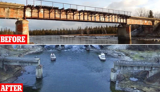 俄羅斯56噸鐵橋被偷走,戰斗民族的硬盒盜竊案