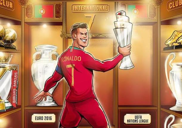 C罗再登欧洲之巅 葡萄牙1-0荷兰队赢得欧国联冠军