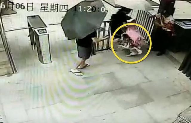 男子遛狗绊倒2岁女童还跟家长动手 理由是心情不好
