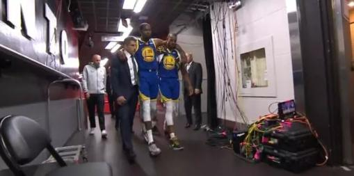 杜兰特复出战受伤,杜兰特,NBA总决赛,猛龙勇士