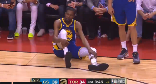 NBA總決賽猛龍VS勇士G5 杜蘭特又傷退