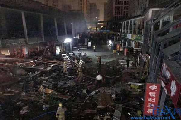 杭州店铺爆燃,杭州万达广场店铺爆燃,杭州万达金街爆燃事故