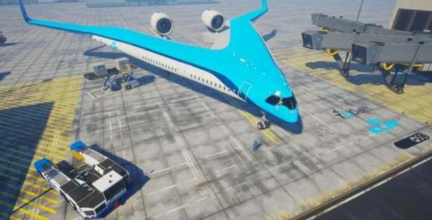 荷兰推出新概念飞机,V字机身极具科幻色彩