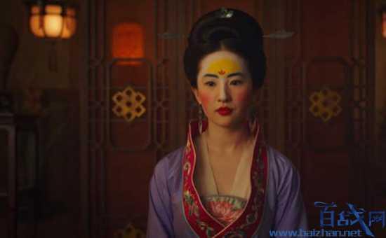 花木兰电影,刘亦菲妆容,额黄妆