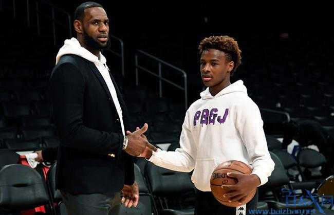 美国第一篮球高中生,詹姆斯儿子,詹姆斯