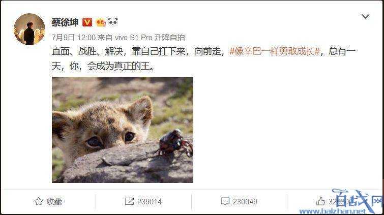 请蔡徐坤宣传《狮子王》真狮版电影 迪士尼真的不怕舆论影响吗?