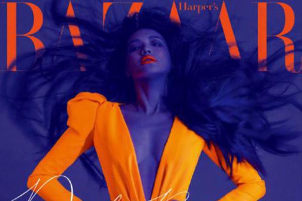 舒淇荧光橙造型邪魅吸睛 狂乱发型蓝紫皮肤荧光唇色胸襟大开