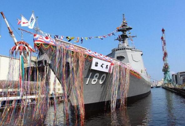 """日本第2艘万?#25191;?#39537;下水,日本海军将进入""""下饺子""""时代"""