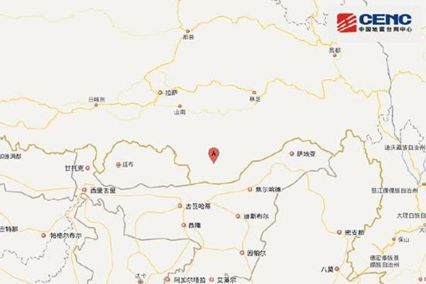 西藏山南市错那县发生5.6级地震 暂未收到伤亡报告