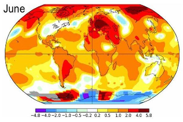 你感受到了吗?地球刚经历了有史以来最热的6月