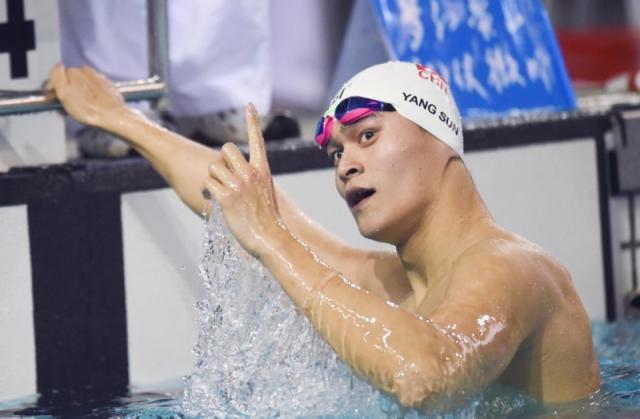 孙杨光州游泳世锦赛首秀第一 400米自由泳轻松晋级