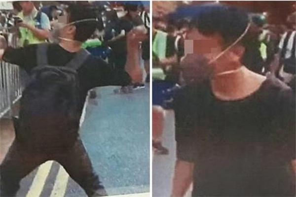 抓的好!28岁男子被香港警方逮捕是怎么回事? 港独极端分子冲击中联办还朝国徽扔鸡蛋
