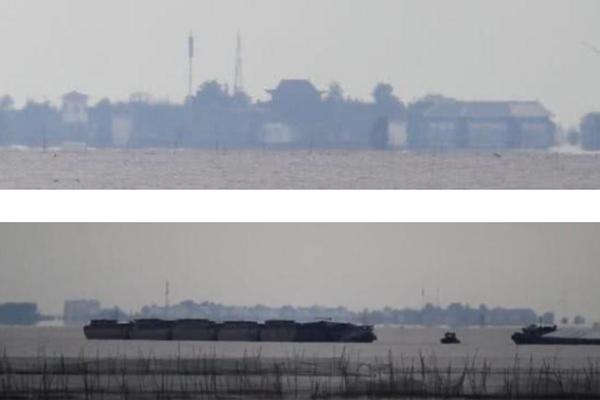 洪泽湖海市蜃楼泗州城再现,难道真的有异次元平行宇宙吗?
