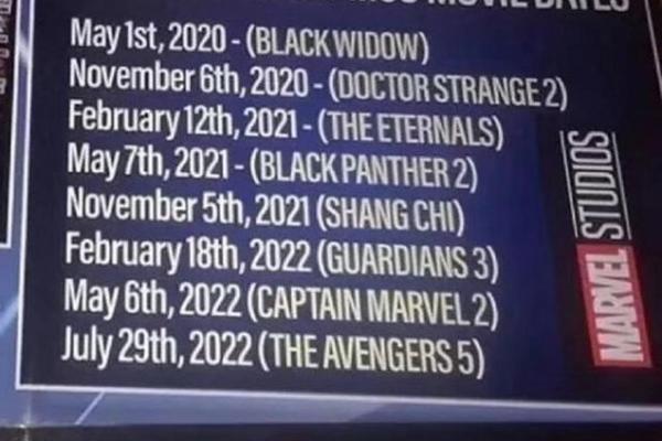 复仇者联盟5什么时候上映?复仇者联盟5上映时间预告