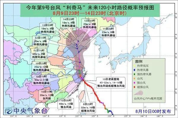 最新消息:台风利奇马登陆浙江温岭 中心附近最大风力16级