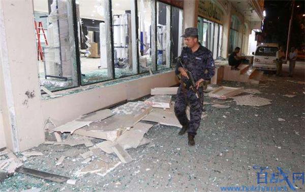 伊拉克军火库爆炸,伊拉克首都发生爆炸,军火库爆炸