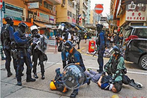 香港警方,香港暴乱,香港,香港示威者,港独分子,极端分子,乱港暴徒