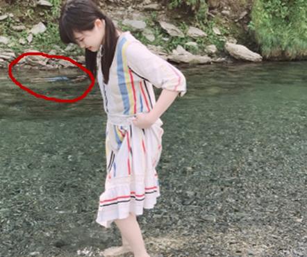 女星玩水拍到诡异人影,水面之下究竟是何方神圣?