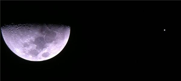 """木星合月即将上演, 6日晚共赏最美""""星月童话"""""""