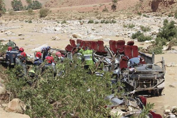 洪水,摩洛哥,摩洛哥客车被洪水冲走,客车被冲走