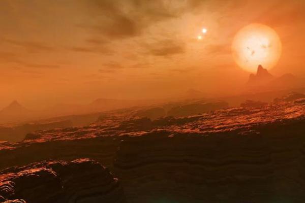 22光年外有什么绝景? 一颗行星竟围绕3颗恒星运行