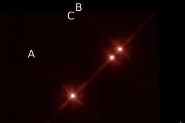 绝景,恒星,行星,行星围绕3颗恒星运行,22光年外的绝景