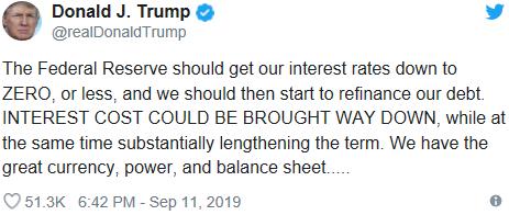特朗普提出大胆想法,美国利率,美国利率降为零
