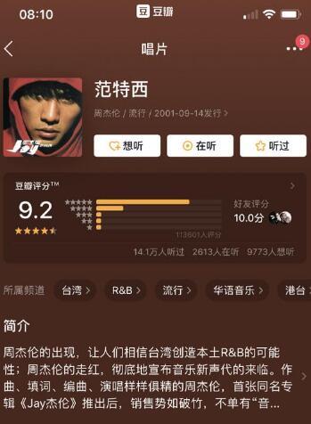 周杰伦新歌评分,周杰伦新歌评分比蔡徐坤低,说好不哭豆瓣评分