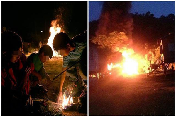 马来西亚一对兄弟为看消防员灭火 放火连烧12所房屋