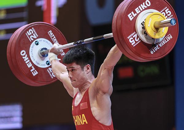 举重世锦赛李发彬破纪录夺金 总成绩318公斤拦下三项冠军