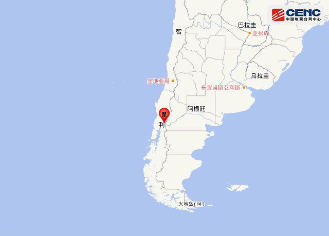 智利发生6.0级地震 暂无人员伤亡报告