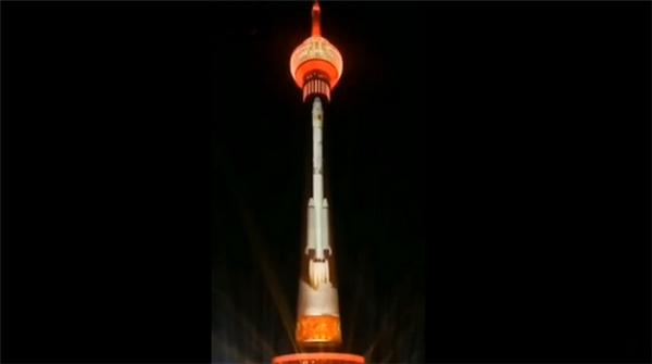 中央电视塔变成火箭,中央电视塔变火箭,中央电视塔