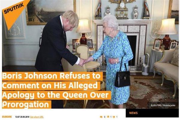 英首相向女王道歉,英国首相,鲍里斯·约翰逊,英国首相约翰逊,英国女王,女王