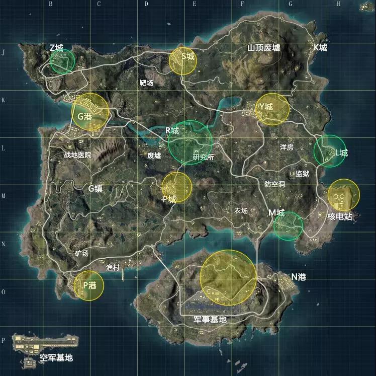 和平精英海岛地图资源哪里多?和平精英资源分布图