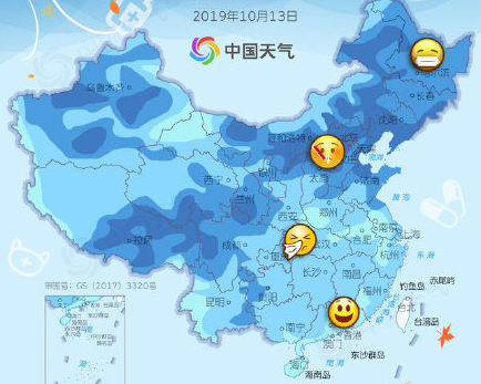 全国感冒预警地图,超四分之三地区气温创新低