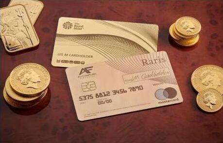 英国推出首张纯金银行卡,每张价值近17万元