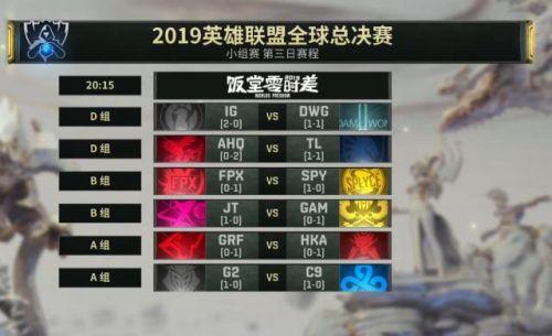LOL,LOLS9总决赛,14日IG比赛时间,S9小组赛赛程