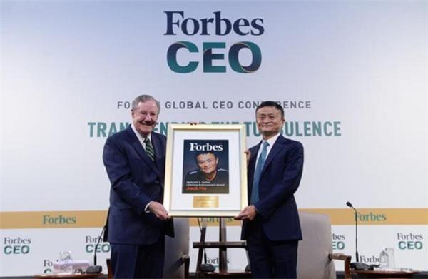 马云获福布斯终身成就奖,他是首位获此殊荣的互联网行业领导者