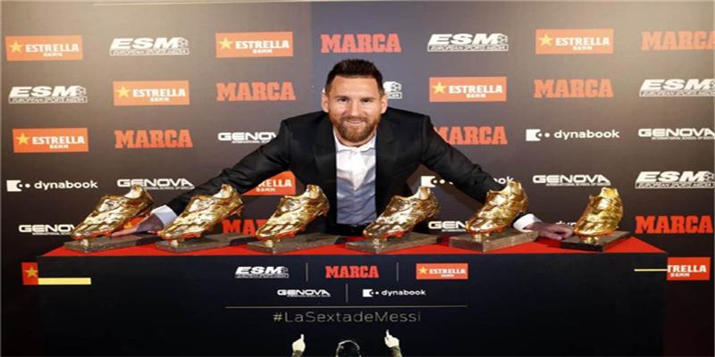 梅西6夺?#20998;?#37329;靴 32岁再度创造历史成为球队明星