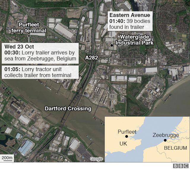英国货车载39具尸体,39具尸体为中国人,39名中国公民在英死亡