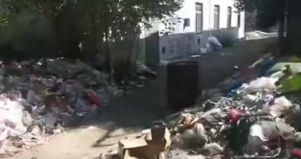浙江一中学遭垃圾围校,监管部门将调查垃圾来源