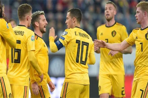 比利时4-1俄罗斯 欧洲杯预赛比利时提前锁定小组第一