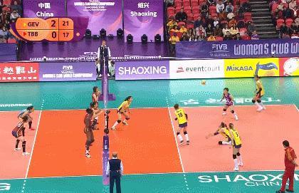 世俱杯天津女排垫底 广东恒大女获得第七名