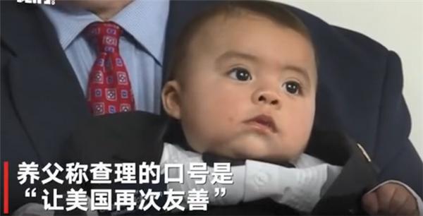 婴儿任美名誉市长,口号是让美国再次友善